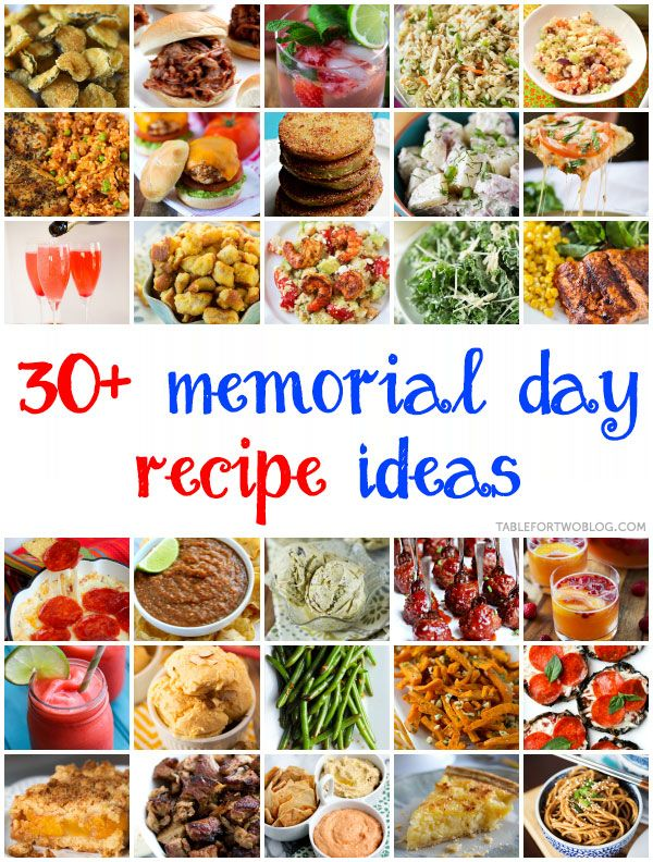 memorial day food recipes