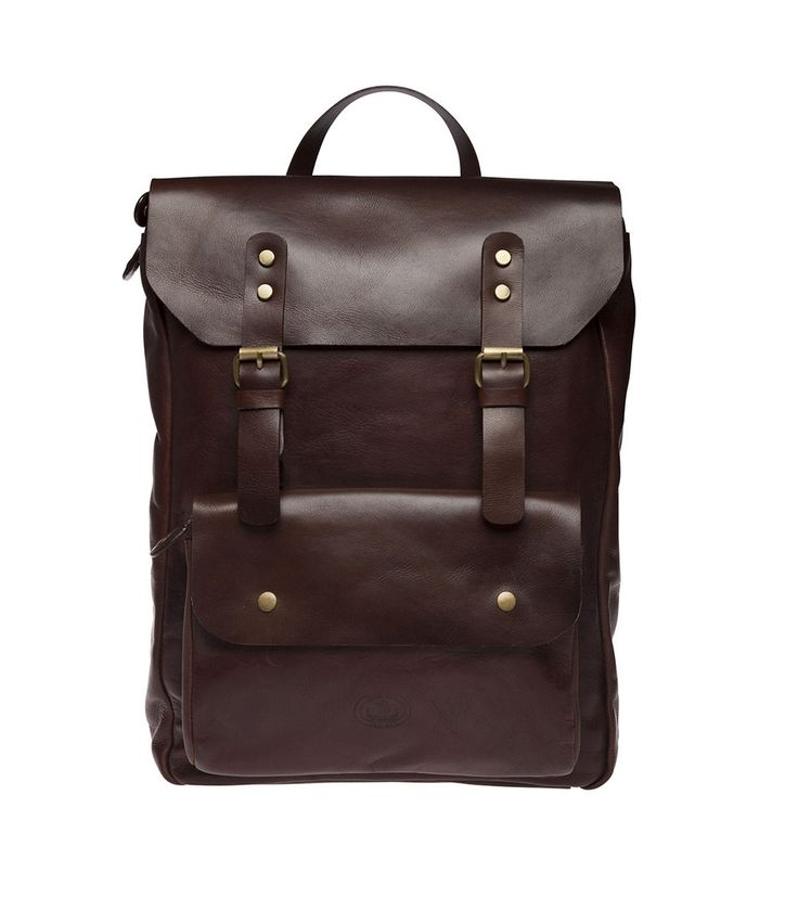 Henk Berg | Benjamin backpack | Vegetable tanned leather | Brown| $328