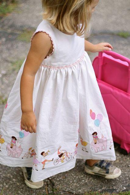 birthday girl dress (using geranium dress pattern) madebyrae, via Flickr
