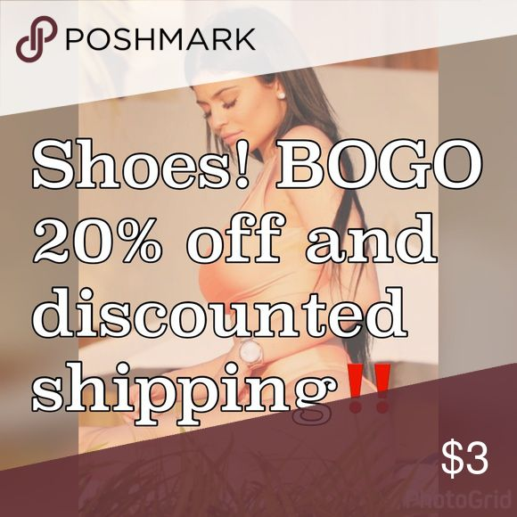 BOGO on a bundle ‼️ please tell me what 2 shoes you would like and I will make a listing for you at $50. Once that is done the 20% off will be applied to the shes that are less. Your total will then be shown In your bundle and when ready to purchase the amount will go from $50 to whatever your total is so then that will give you discounted shipping for dropping the price! Vince Camuto Shoes Heels