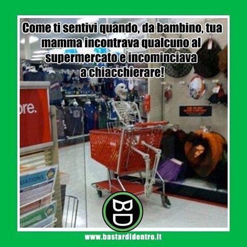 Tu al #supermercato da bambino Tagga i tuoi amici e #condividi #bastardidentro #carrello www.bastardidentro.it