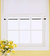 For cottage windows? Add a few stencils? Simple ...