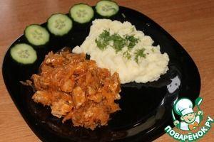 Бигус со свининой и картофельным пюре