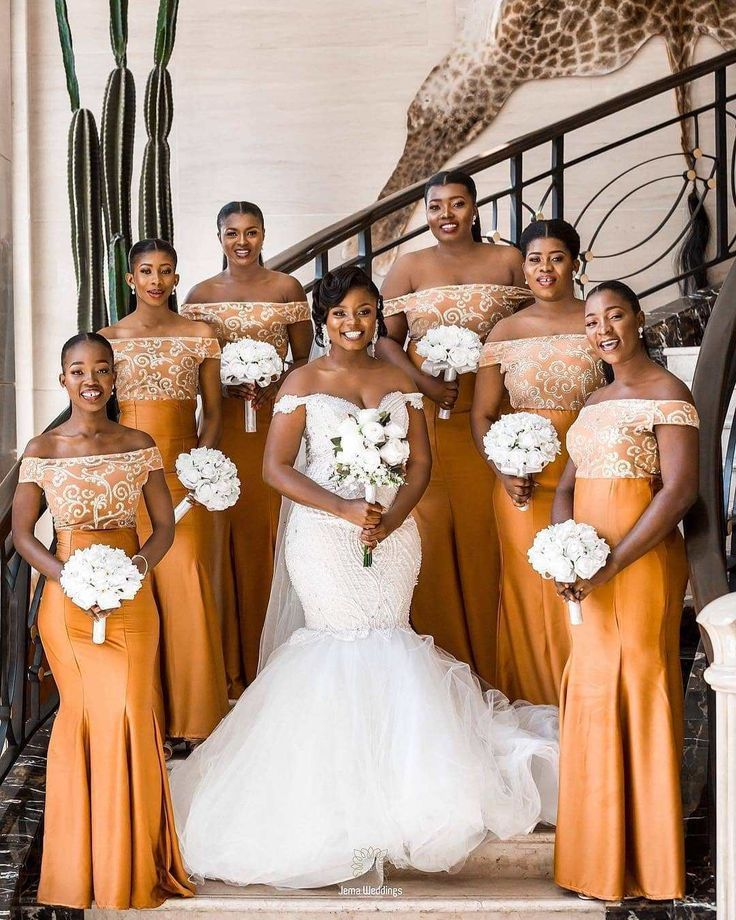 Bridesmaids Dresses For Black Women African Bridesmaid Dresses African Wedding Attire Yellow Bridesmaid Dresses
