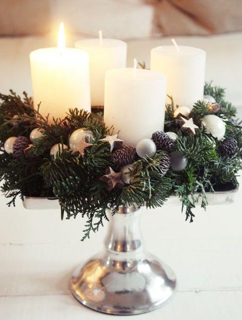 Diy 9 centrotavola di natale fai da te per la tavola delle feste - Centro tavola natalizio fai da te ...