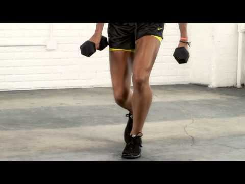 One-legged squat jumps