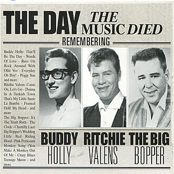 "February 03, 1959... rising American rock stars Buddy Holly, Ritchie Valens and J.P. ""The Big Bopper"" Richardson are killed when their chartered Beechcraft Bonanza plane crashes in Iowa a few minutes after takeoff from Mason City on a flight headed for Moorehead, Minnesota. Holly and his band, the Crickets, had just scored a No. 1 hit with ""That'll Be the Day."""