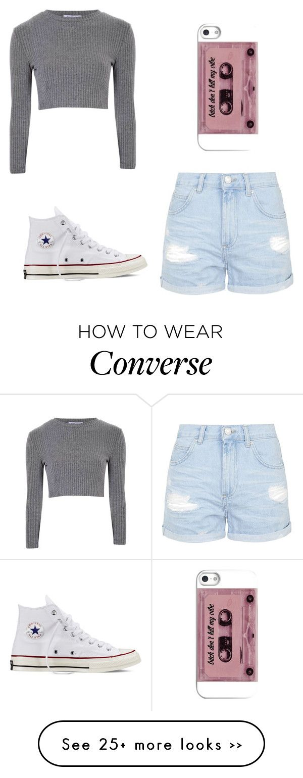 """"" by shamaurimaeweather on Polyvore featuring Glamorous, Topshop and Converse"