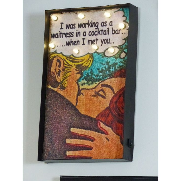 Vintage gifts for her, this cool retro sign, I was working as a waitress in a cocktail...... bar when I met you, who sang this song then