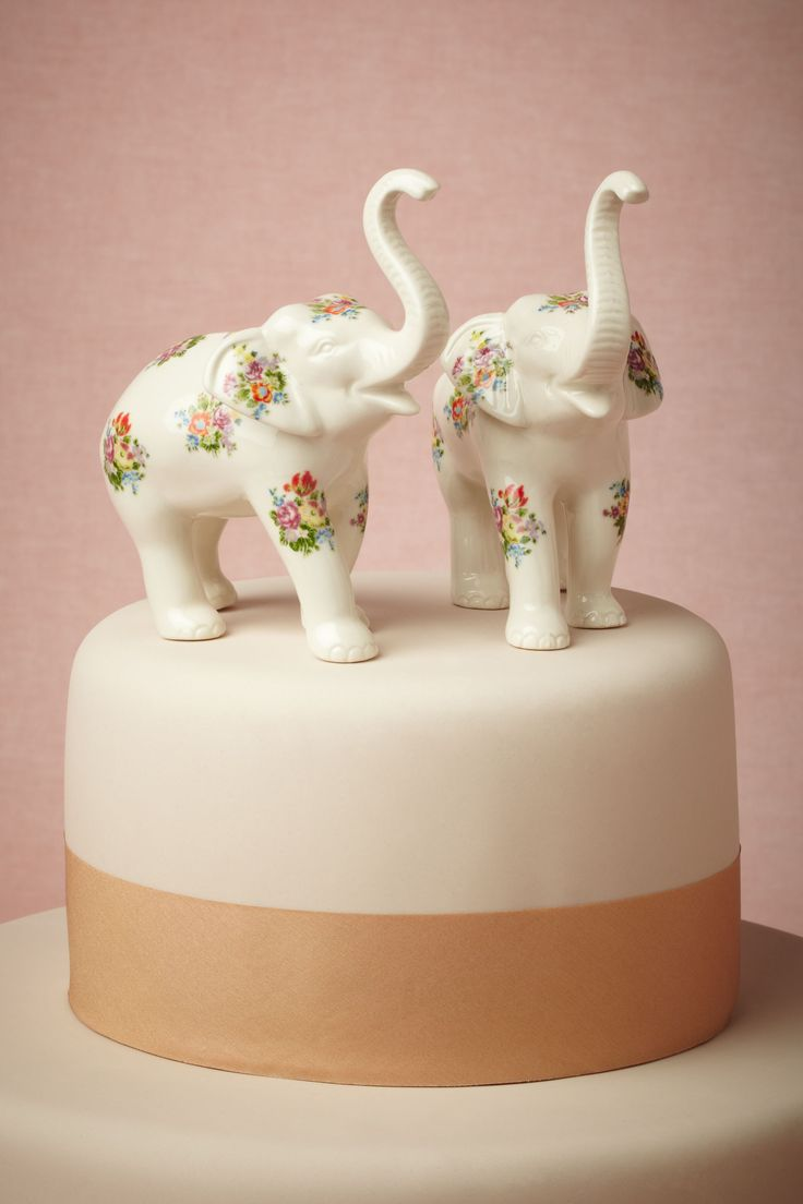 Indian Gold Elephant Sugar Decorations For Cake