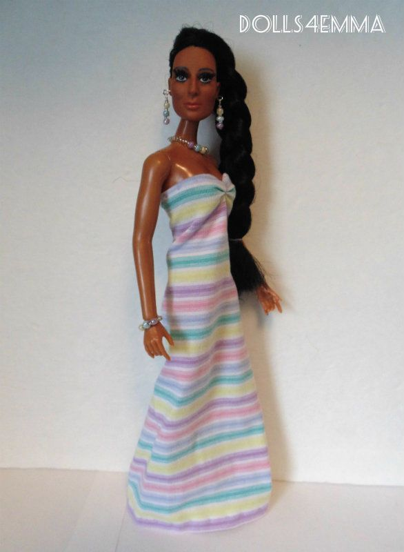 Mego CHER FARRAH Doll Handmade Clothes MAXI GOWN & JEWELRY Fashion NO DOLL d4e | eBay