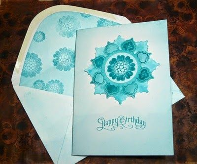 Stampin' Up Mosaic Madness Birthday Card with Envelope (2014)
