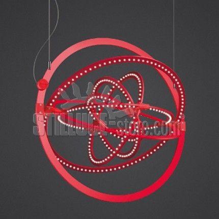 Artemide Copernico 500 Lampada a sospensione, estensione di gamma della serie Copernico. Copernico è ricavata da un foglio di alluminio tagliato nell'acqua (JET); quando chiuso l'apparecchio si presenta completamente piatto. Disponibile nel colore bianco o rosso.