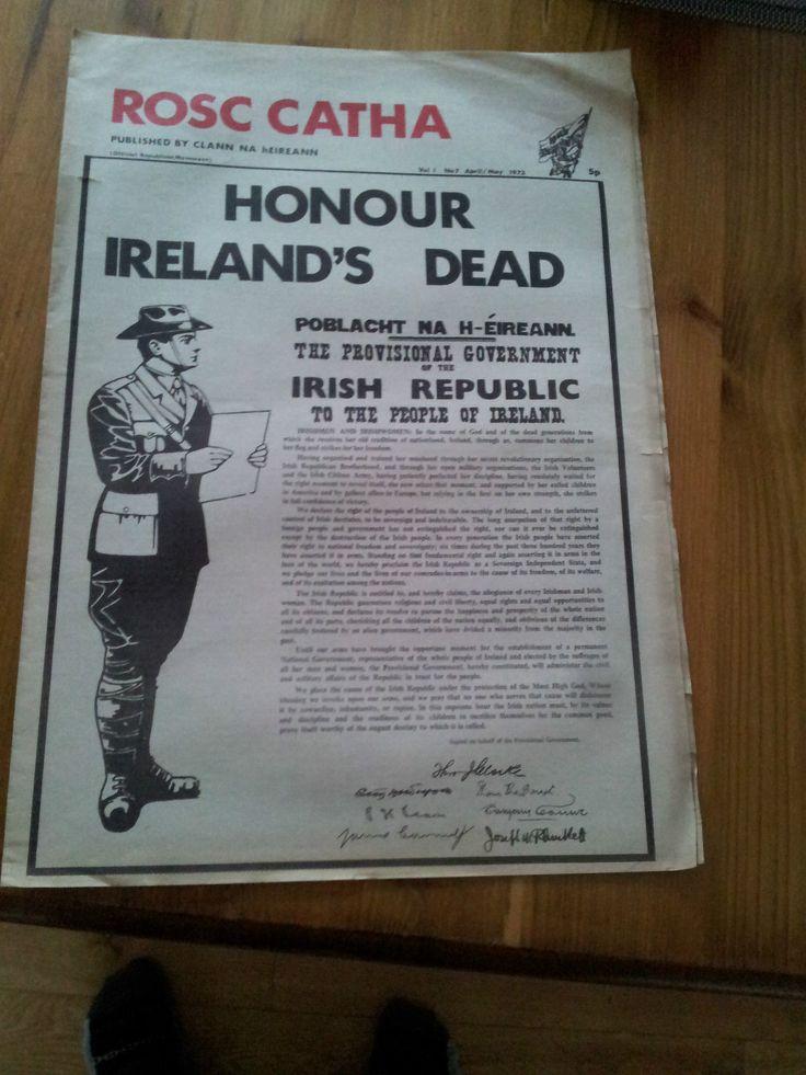 Rosc Catha Published by Clann Na hEireann April 1973. Irish Republican Newspaper | eBay