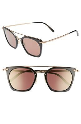 31c12694a0f4 OLIVER PEOPLES Designer Dacette 50mm Square Aviator Sunglasses ...
