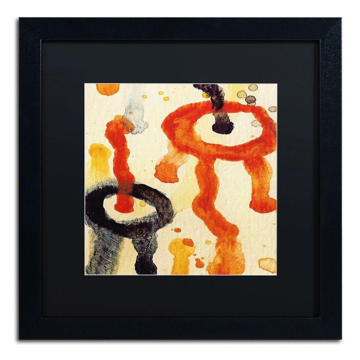 'Circle Encounters 6' by Amy Vangsgard Framed Painting Print