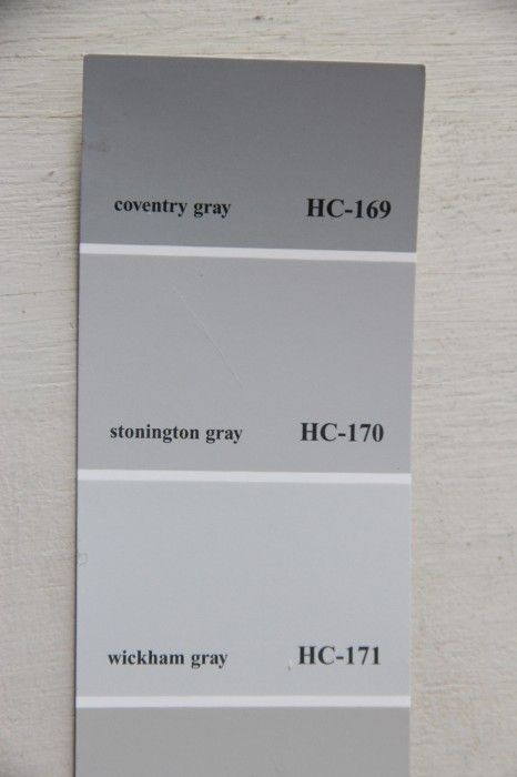 WICKAM GRAY, STONINGTON GRAY AND COVENTRY GRAY - 2 of the colours I'm using in the house