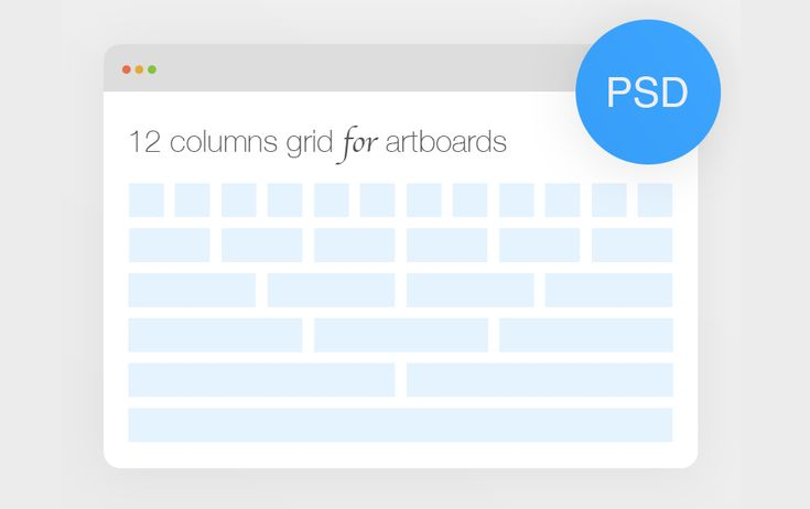 Bootstrap 12 columns grid for artboards