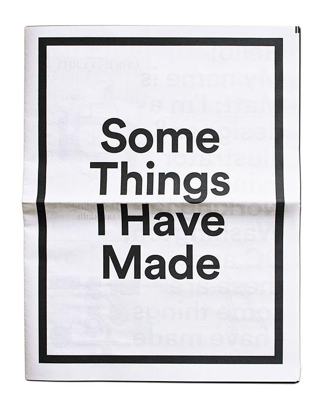 Some Things I Have Made - Matt Chase | Design, Illustration