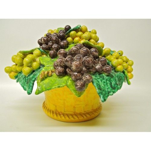 Tuscan Nd Dolfi Grapes Fruit Basket Centerpiece With