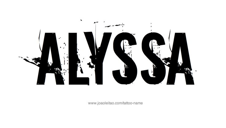 Alyssa Name Tattoo Designs Cool Abandoned Buildings