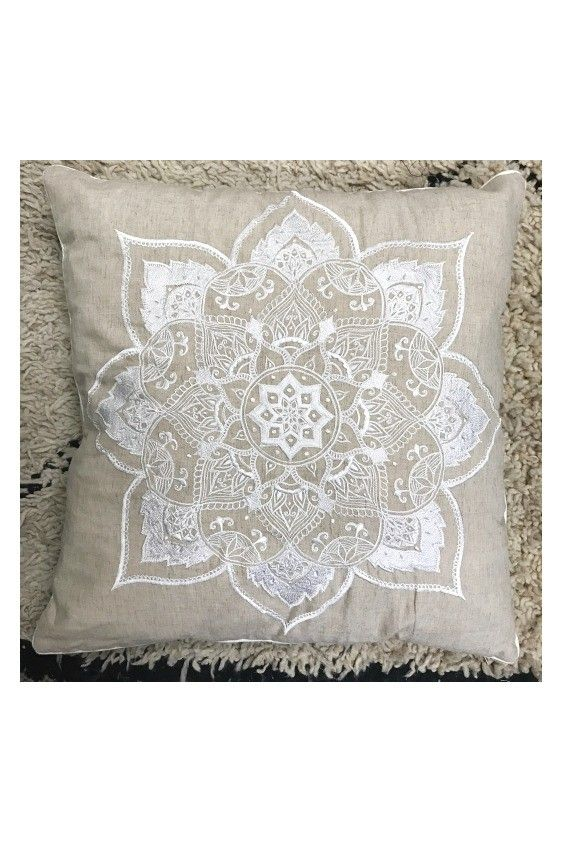 Mandala Linen Cushion Cover | Neon Gypsy