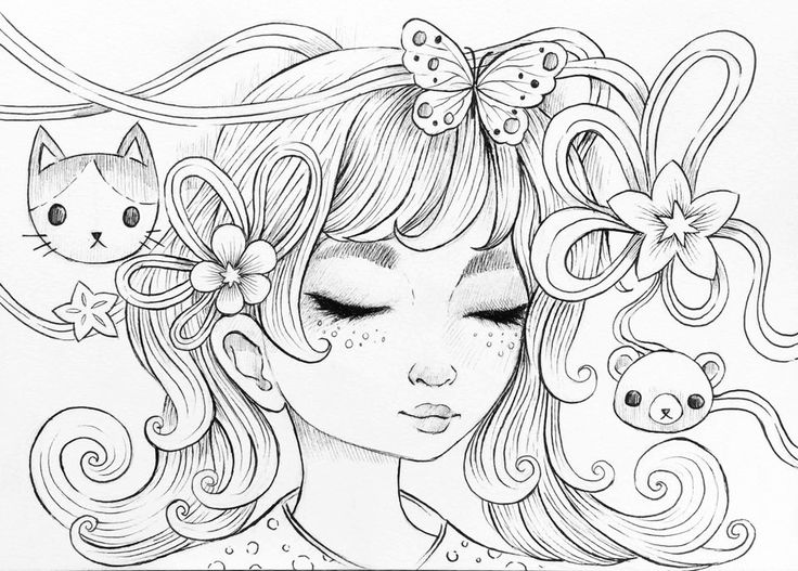 Gorgeous Coloring Page For Adults