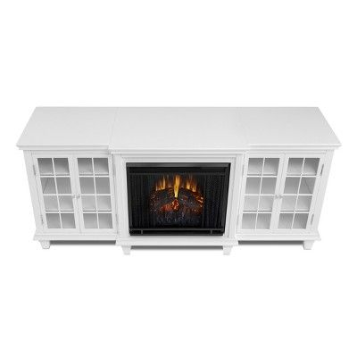 Real Flame Marlowe Electric Fireplace Entertainment Center - White