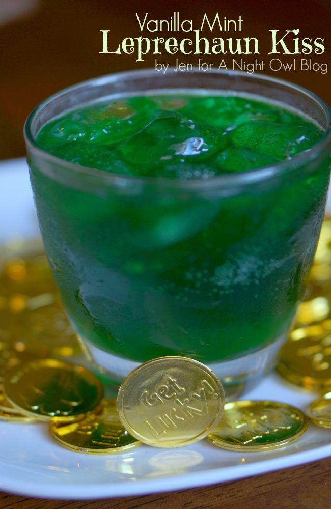 Vanilla Mint Leprechaun Kiss - a fun and festive St. Patrick's Day cocktail!
