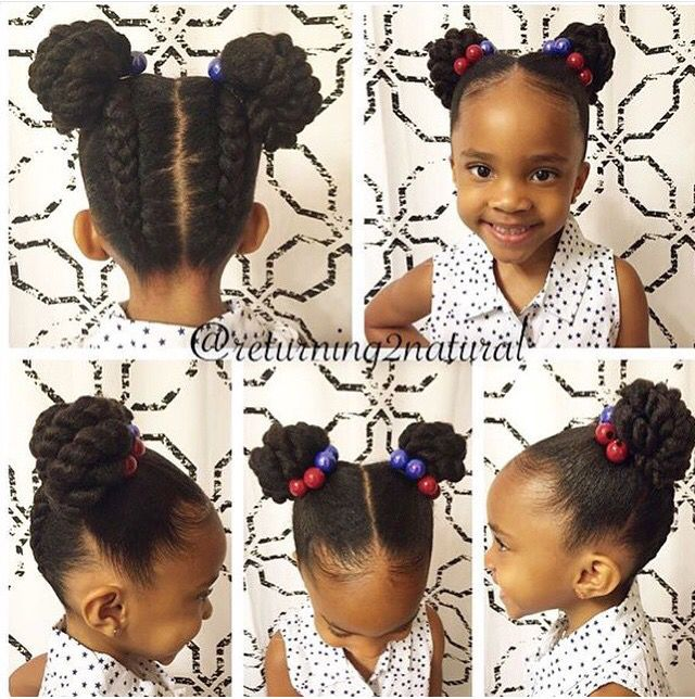 Quick kids hairstyle
