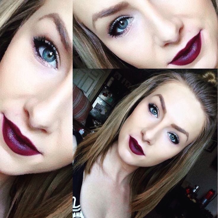 This look is Emma inspired ❤️ #nyxcosmetics Raisin #lipliner with #revlon Black Cherry Super Luscious #lipstick #bblogger #yeg #makeup #inspired