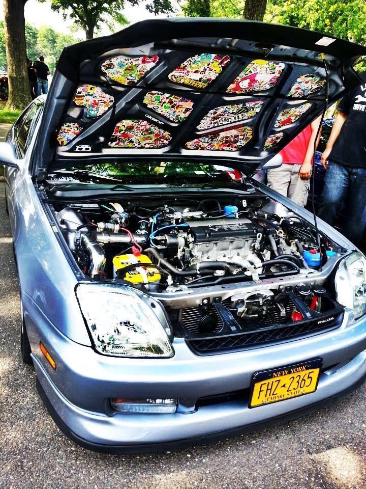 Prelude Honda BB6 ~ sticker bombed under hood                              …