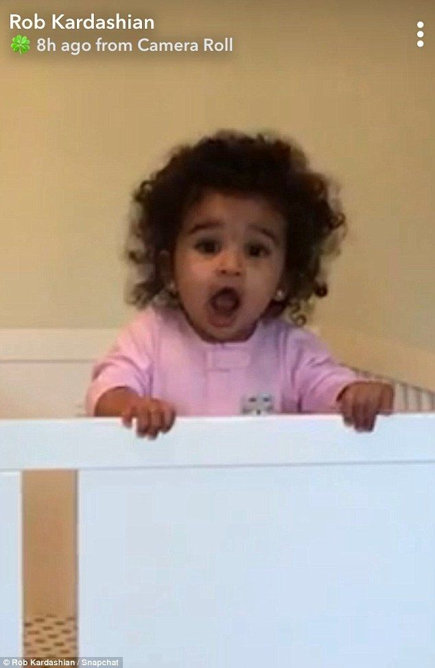 Daddy's little girl!Rob Kardashian posted a video on Snapchat of his daughter Dream Renee...