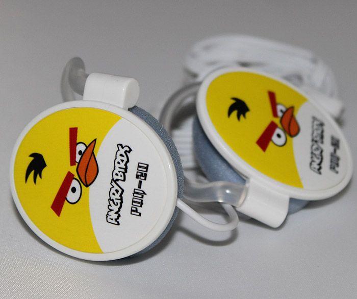 Наушники Angry Birds овальные желтые