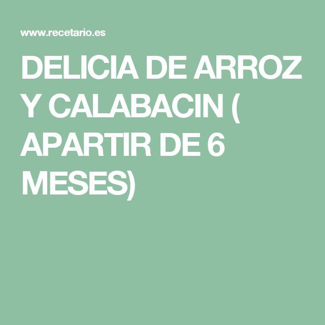 DELICIA DE ARROZ Y CALABACIN ( APARTIR DE 6 MESES)