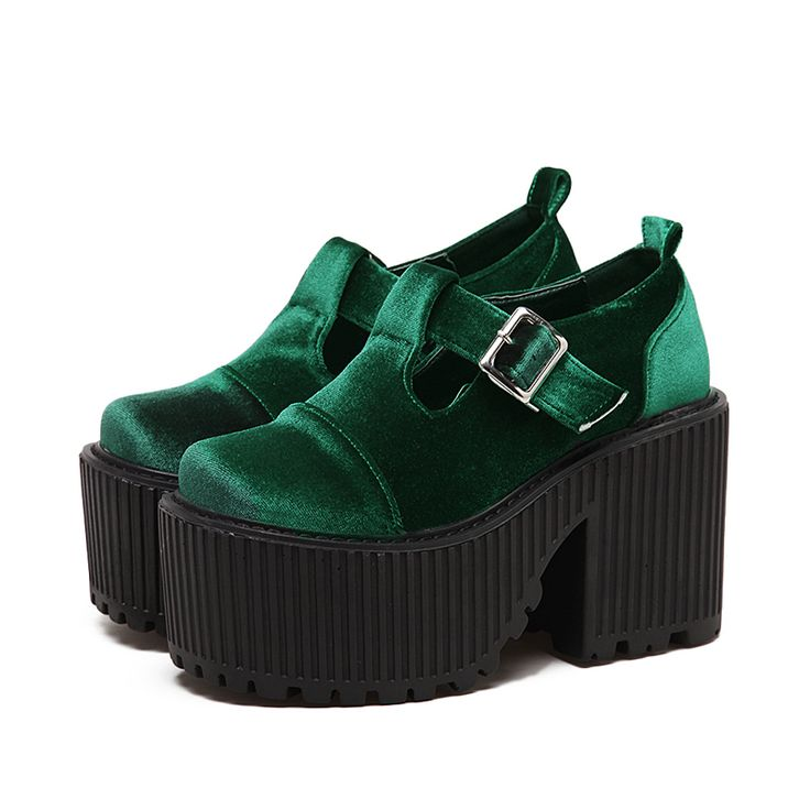 2017 nouveau velours de haute qualité mode Punk Rock plate forme à talons hauts chaussures femmes Cheville bottes talons Épais noir Vin rouge vert chaussures dans Bottines de Chaussures sur AliExpress.com | Alibaba Group