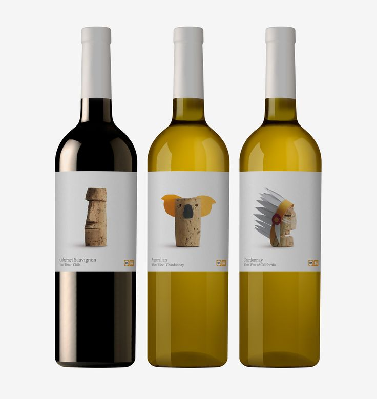 """Wines of the world.Graphics for wine label. Delhaize.This is a range of wines that Belgian supermarket chain Delhaize offers within its own brand """"365"""", which includes simple, everyday products at affordable prices. The cork is a sign of humility, an ob…"""