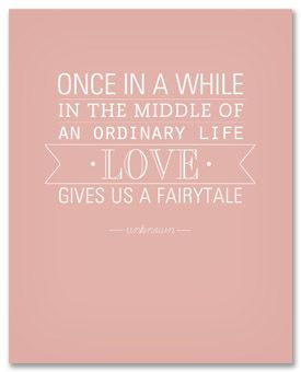 love gives us a fairytale ..... free printable from 'simple as that'
