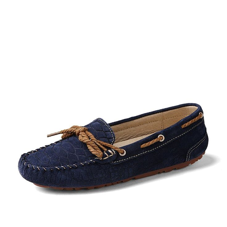 HKR Women's QS055 slip on Suede Leather loafers-shoes Loafers ** Details can be found by clicking on the image.