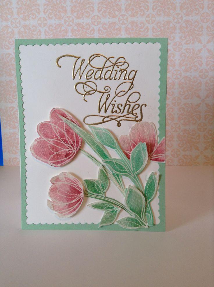Wedding card elegant simon says stamp spring