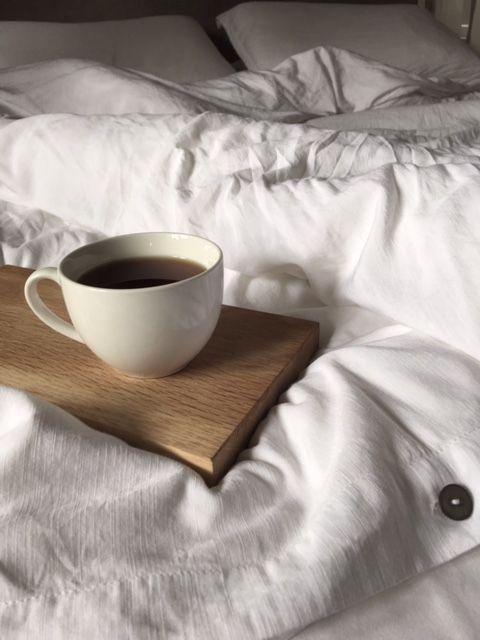 Crisp white bamboo cotton bed linen