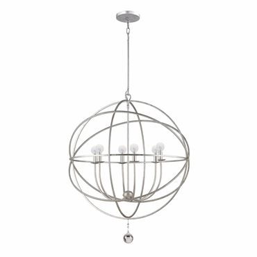 Crystorama Olde Silver Chandelier Part Of The New Solaris Collection 6 Lights