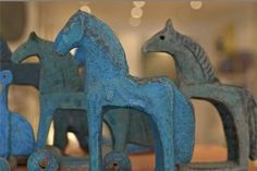 Beautiful horses in ceramic by Fiona Clai Brown