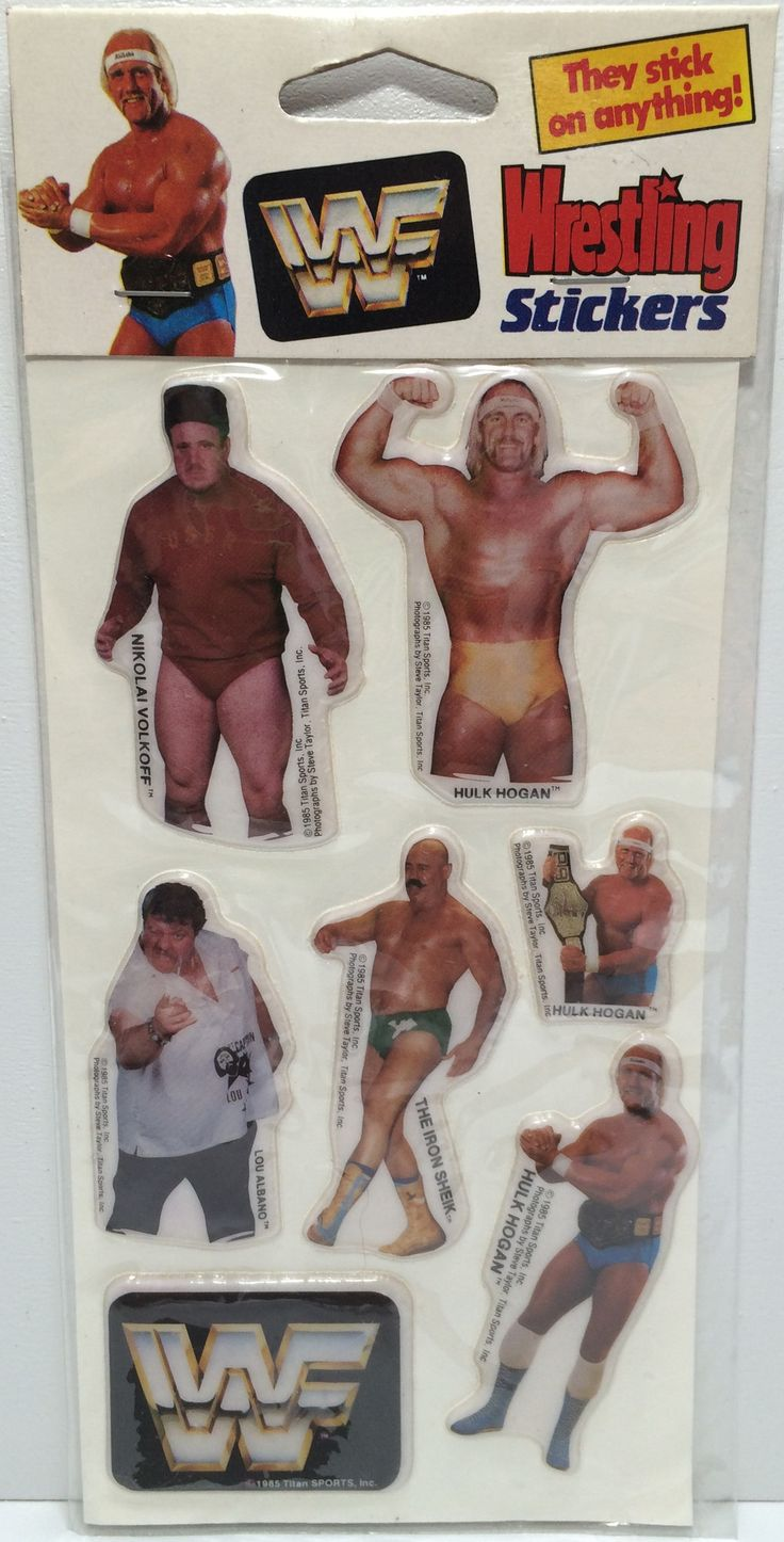 (TAS031829) - 1985 Vintage Titan Sports WWF WWE Wrestling Stickers - Hulk Hogan