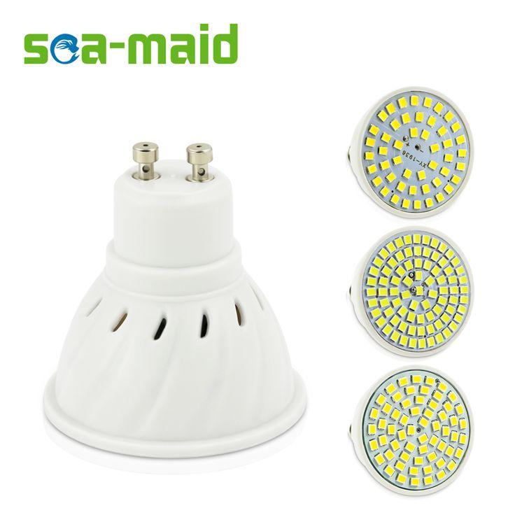 GU10 E27 E14 MR16 Lámpara LED SMD2835 AC220V 110 V LED Spotlight Bombillas Punto de luz Lampada Bombilla LED para interiores iluminación