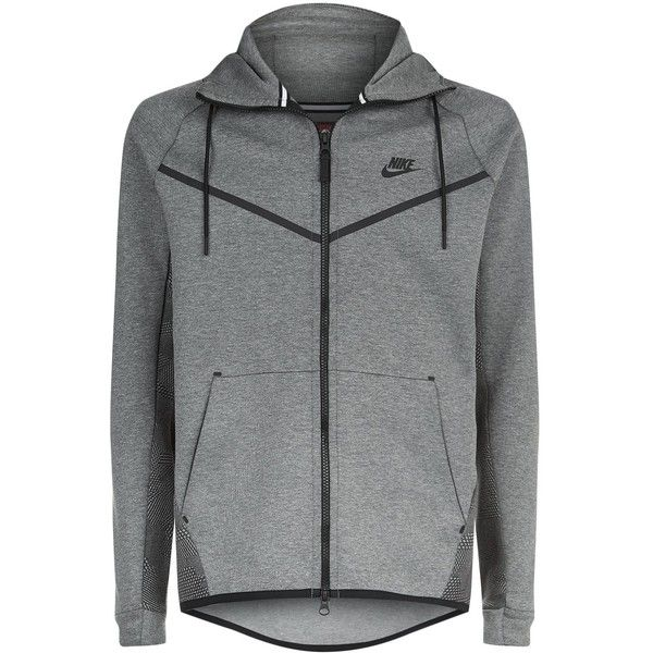 Nike Tech Fleece Windrunner (1.671.880 IDR) ❤ liked on Polyvore featuring men's fashion, men's clothing, men's activewear, men's activewear jackets and nike