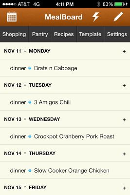 MealBoard: Meal Planning, Grocery Shopping and Recipe Organization Sanity - in one App!