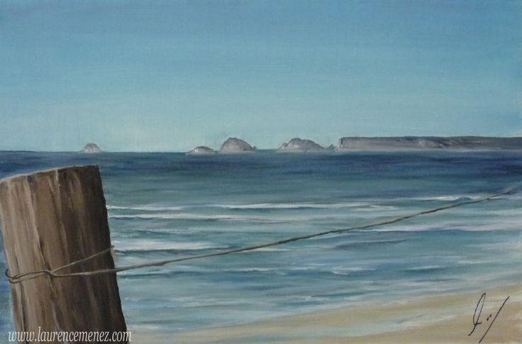 La palue Toile peinte représentant la plage de la palue à Crozon