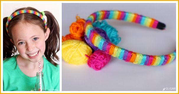 Yarn-Wrapped Macrame Headband - Sugar Bee Crafts