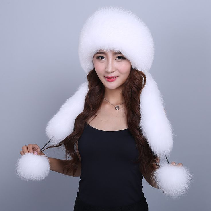 >> Click to Buy << Hat Female Winter Women's Hat With Scarf Real Fox Fur Casual Fashion Real Fur Cap Solid Warm Thick Winter Female Hat #Affiliate